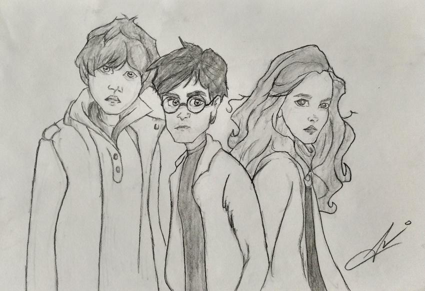 Daniel Radcliffe, Emma Watson, Rupert Grint par Nereaaj